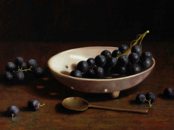 Druiven in kompaneel 54 x 36 cmVERKOCHT